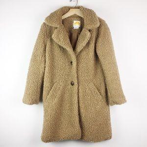 C&C California brown teddy coat faux fur Sherpa